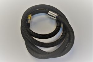 BLACK/STAINLESS STEEL SHOWER HOSE