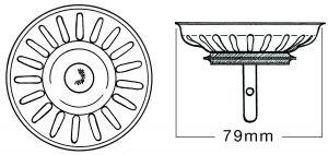 BLANCO BASKET STRAINER PLUG WASTE 225210